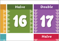 Halving & Doubling Board Game