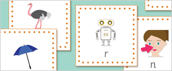 Phoneme / Grapheme 15cm Bee-Bot Cards