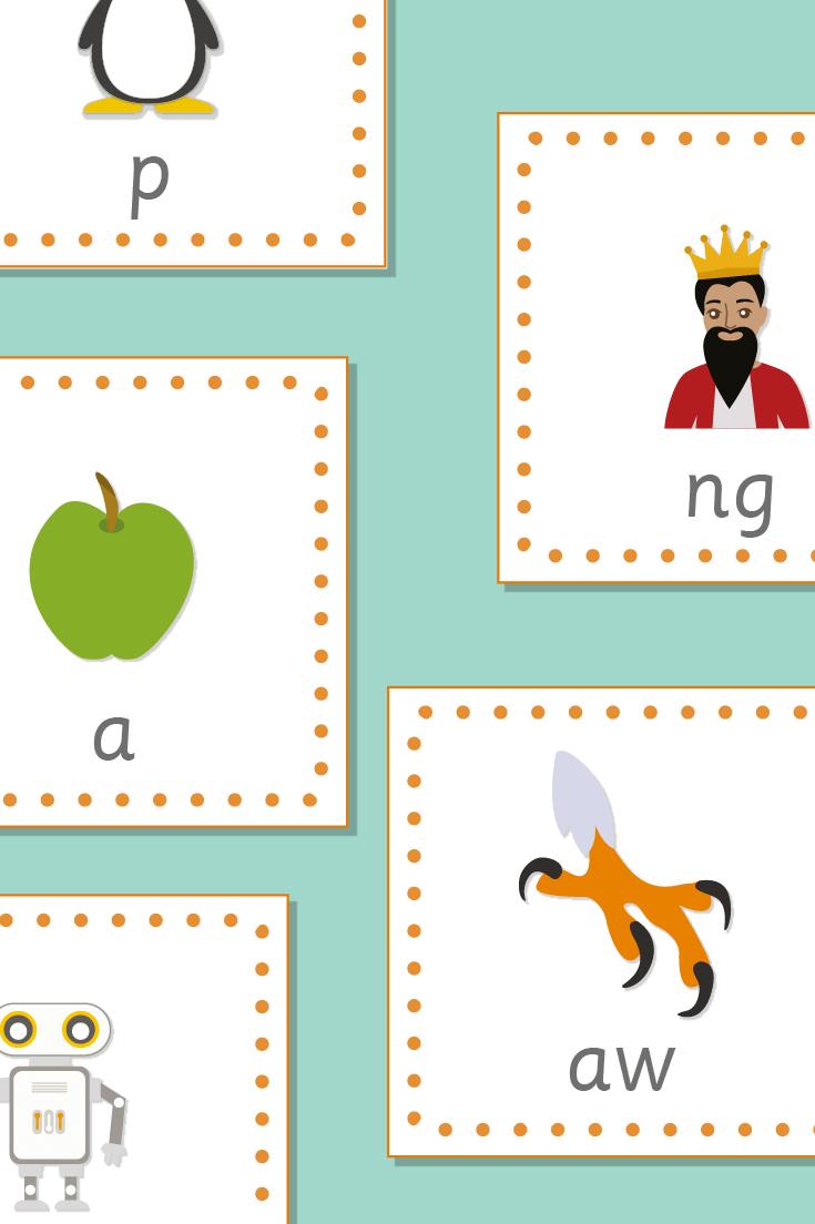 Phoneme / Grapheme 15cm Bee-Bot Cards