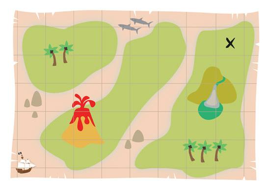 A4 Pirate Map
