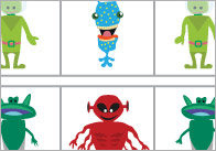 Alien Complete the Pattern / Sequence Worksheets