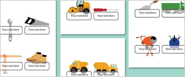 Construction Self-Registration Labels