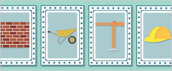 Construction Snap Cards / Matching Pairs