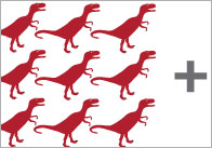 Dinosaur-addition-worksheets
