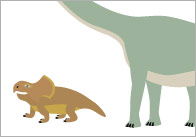 Dinosaur Cut-Outs for Size Sorting