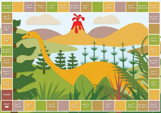 Dinosaur Herbivore Board Game