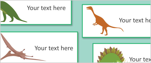 Editable Dinosaur Labels