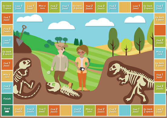 Dinosaur Paleontology Board Game | Free Early Years & Primary Teaching ...