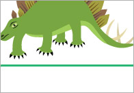 Dinosaur Self-Registration Labels