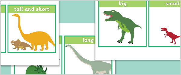 Dinosaur Size Comparison Cards
