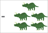 Dinosaur Subtraction Worksheets