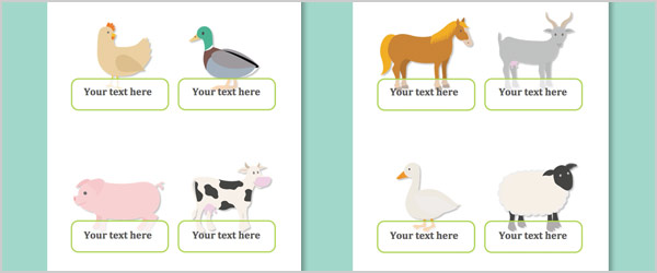 Farm Animal Self-Registration Labels