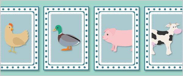 Farm Snap Cards / Matching Pairs