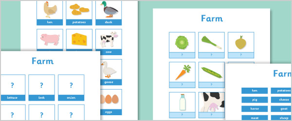 Farm Vocabulary Activity