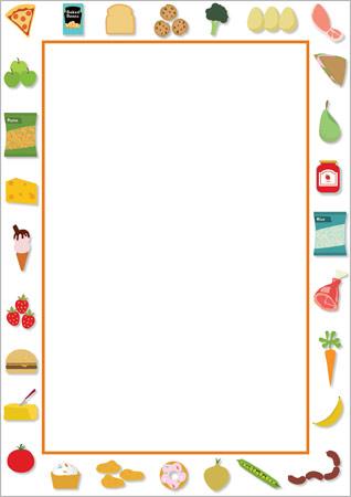 Editable Food Notepaper