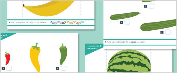 Fruit & Vegetable Measuring & Comparing Mats