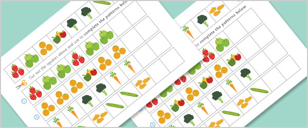 fruit and vegetable sequences and patterns