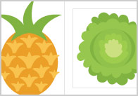 Fruit & Vegetable Cut-Outs for Size Sorting