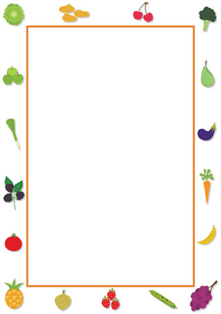 Fruit and Vegetable Editable Notepaper