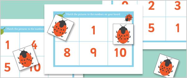 Ladybird Bingo (Numbers 0-10)