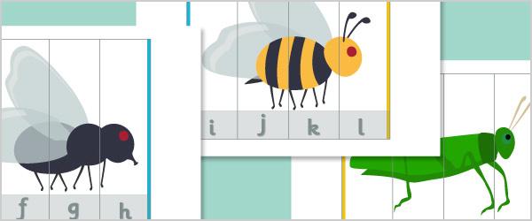 Minibeast Alphabet Puzzles