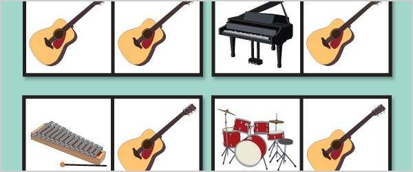 Musical Instruments Dominoes