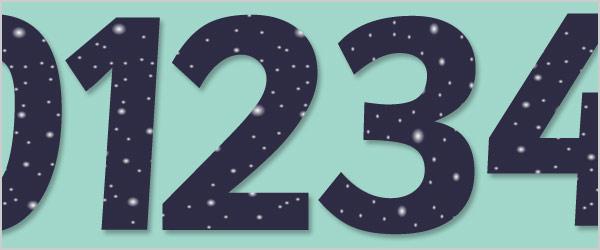 Night Sky Display Numbers