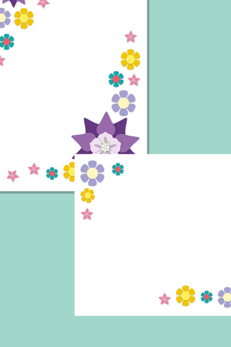 Floral Notepaper / Page Border