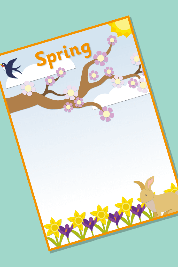 Editable Spring Topic Book Cover