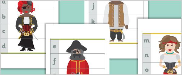 Pirate Alphabet Puzzles
