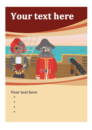 Pirate Editable Poster