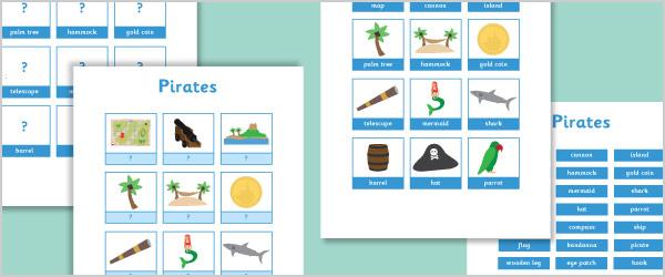 Pirate Vocabulary Activity