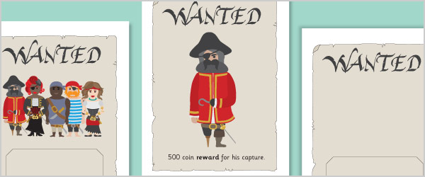 Pirate 'Wanted' Posters