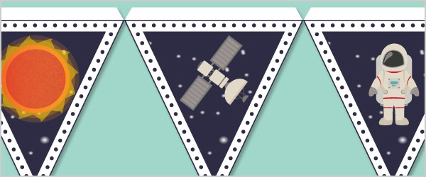 Space Bunting Free Early Years Amp Primary Teaching