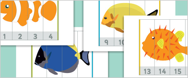 Under the Sea Number Puzzles