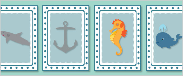 Under the Sea Snap Cards / Matching Pairs