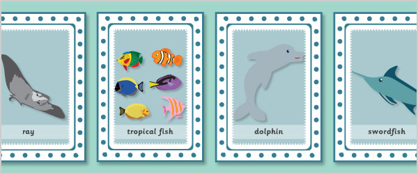 Under the Sea Snap Cards with Words