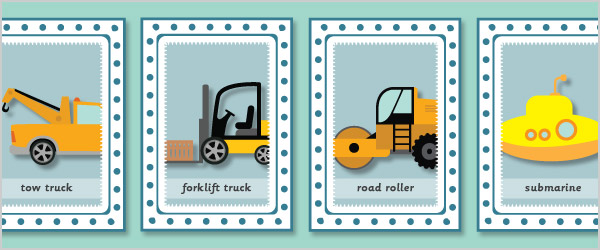 Vehicle Snap Cards (with words)