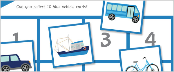 Vehicle Maths Game – All About 10