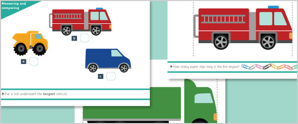 Vehicle Measuring and Comparing Activity Mats