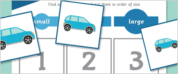 Vehicle Size Sorting Game