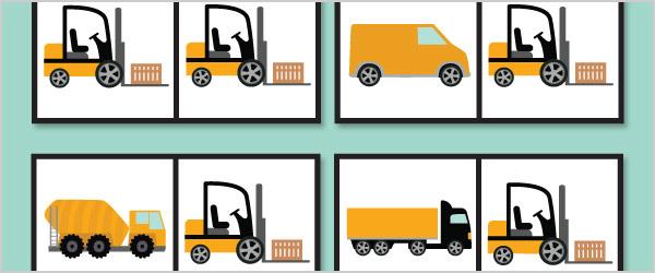 Work Vehicles Dominoes
