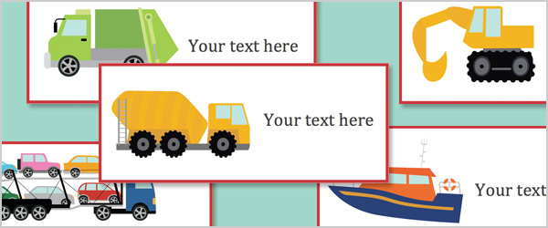 Work Vehicles Editable Labels