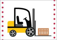 Work Vehicles 15cm Cards