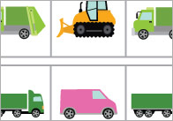 Complete The Pattern Worksheets: Work Vehicles