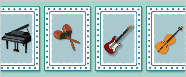 Musical Instruments Snap Cards / Matching Pairs