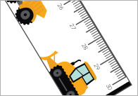 Construction Vehicles Printable Rulers