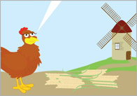 Little Red Hen Story Visuals 1