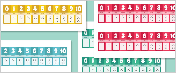 Numbers, Words and Dots Number Tracks 0-10