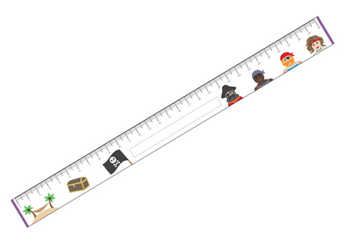 picture about Free Printable Ruler identified as Pirate Printable Rulers No cost Early Many years Standard